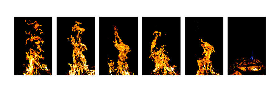Fire Photograph - Fire X 6 by Tomasz Dziubinski