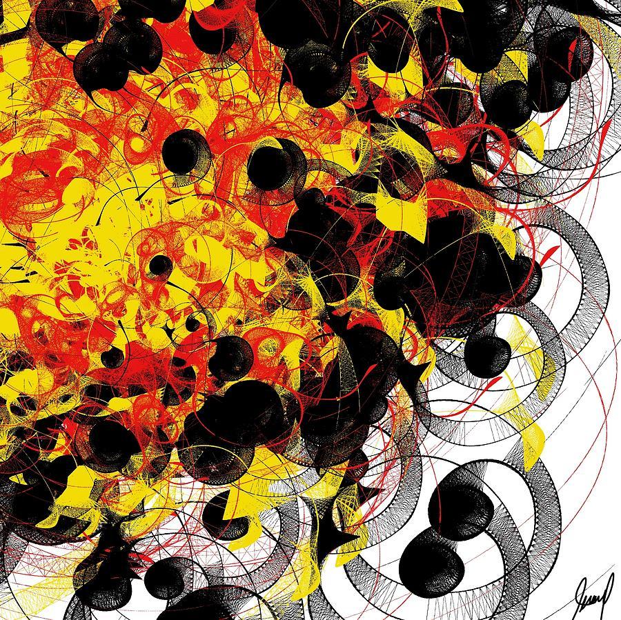 Abstract Digital Art - Fire by Yilmar Henry