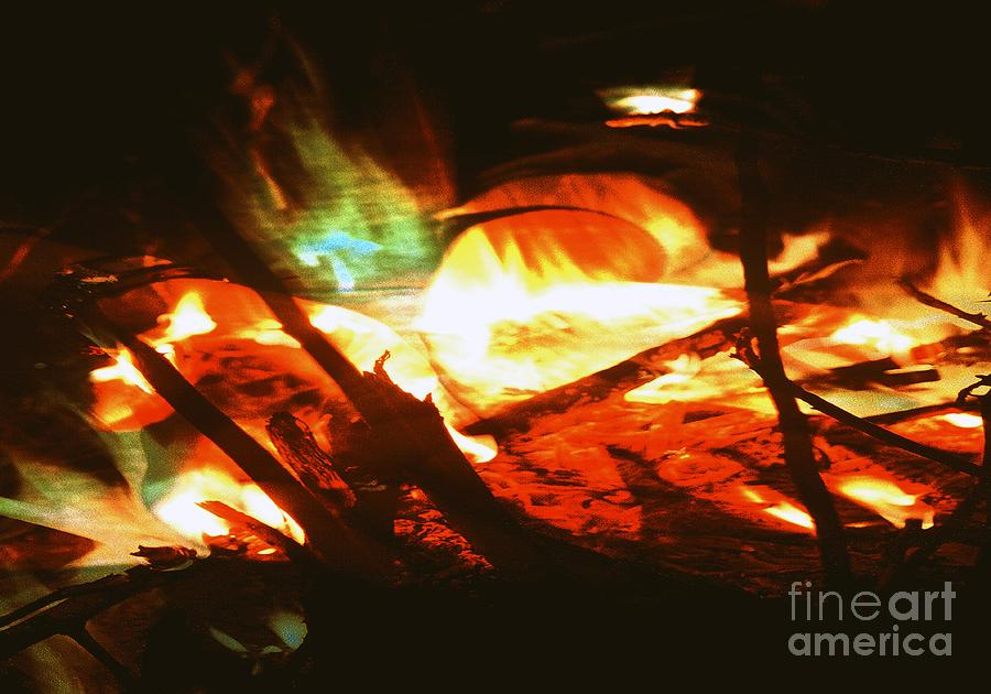 Hands Photograph - Fire1 by Ash Soomro-Irani