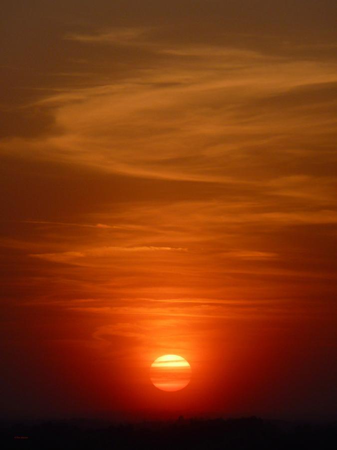 Sunset Photograph - Fireball At Sunset by Tim Mattox