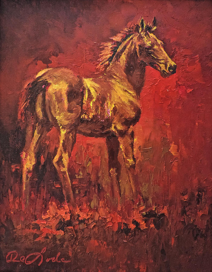 Colt Painting - Fireball by Mia DeLode