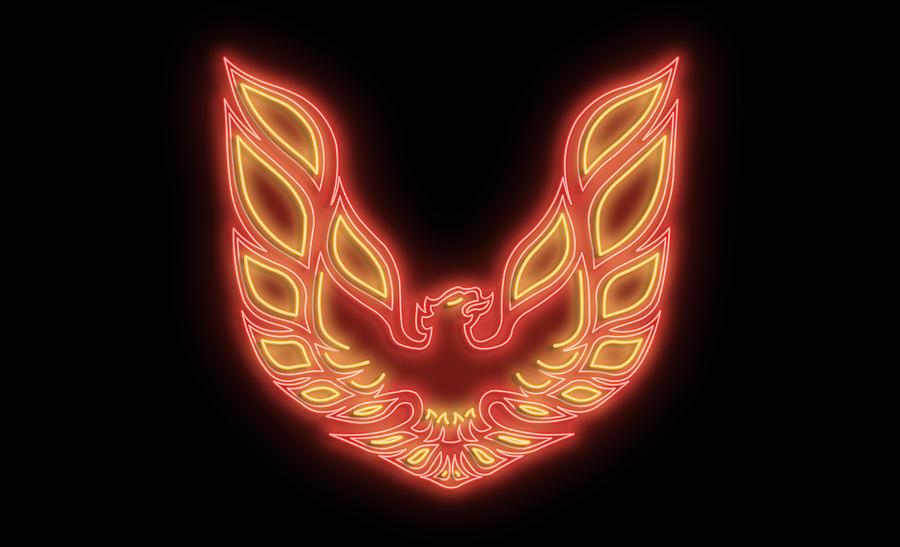 Pontiac Digital Art - Firebird Neon Sign by Ricky Barnard