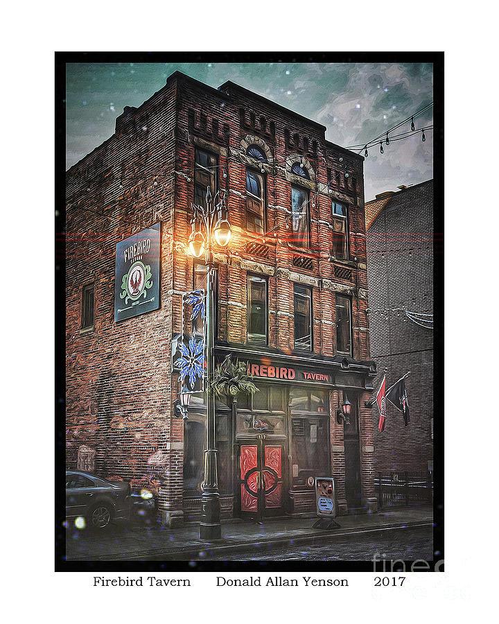 Bar Photograph - Firebird Tavern by Donald Yenson