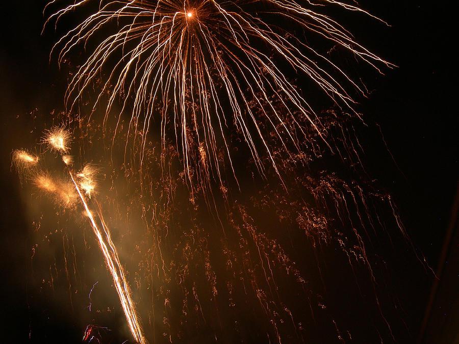 Fireworks Photograph - Firefall by Lorraine Baum