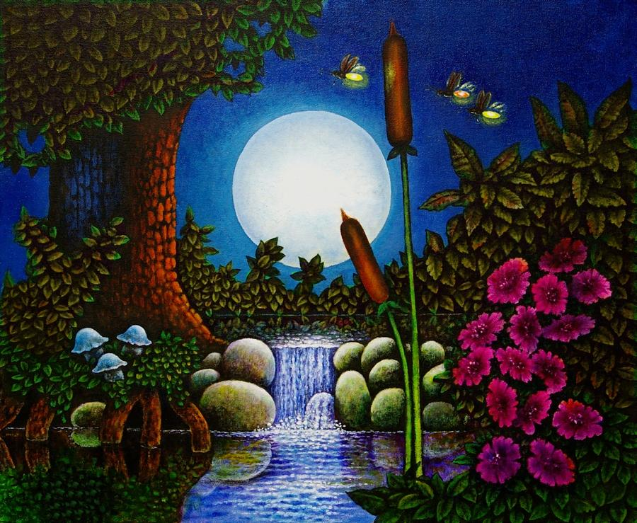 Fireflies Painting By Michael Frank