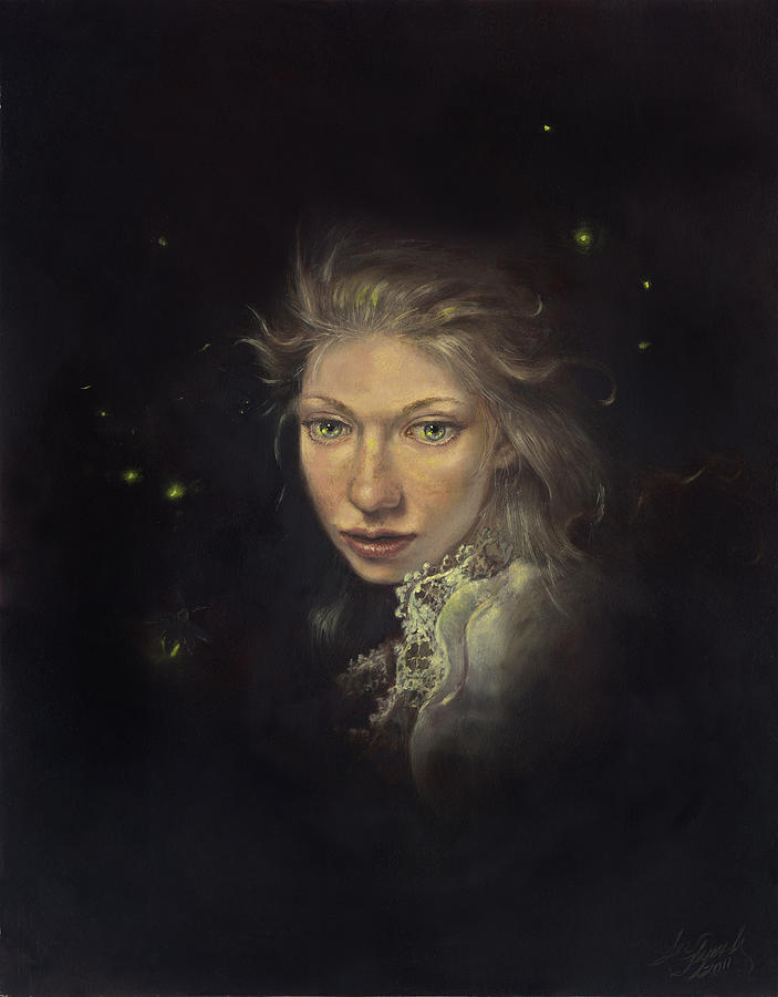 Fairy Painting - Firefly Fairy by Lee Lynch