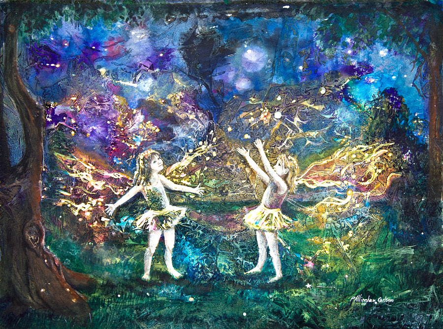 Art Painting - Firefly Frolic by Patricia Allingham Carlson