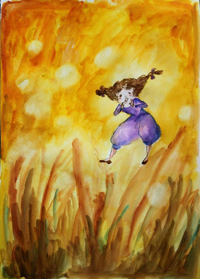 Firefly Painting by Hermine Wang