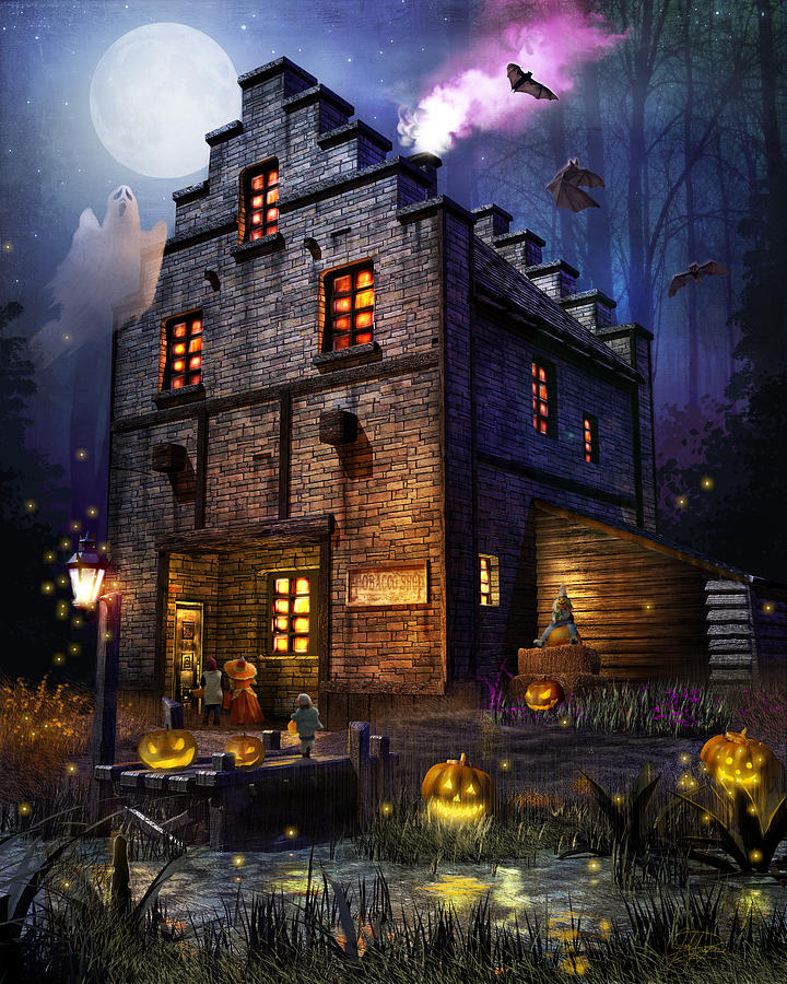 Ghosts Mixed Media - Firefly Inn Halloween Edition by Joel Payne