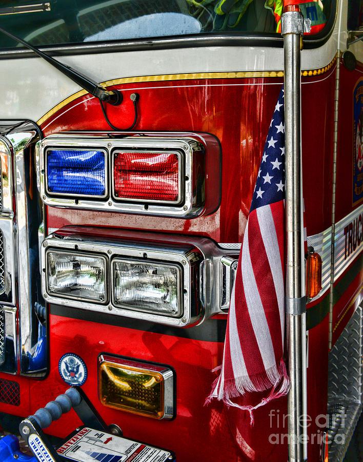 Fireman Photograph - Fireman - Fire Truck by Paul Ward