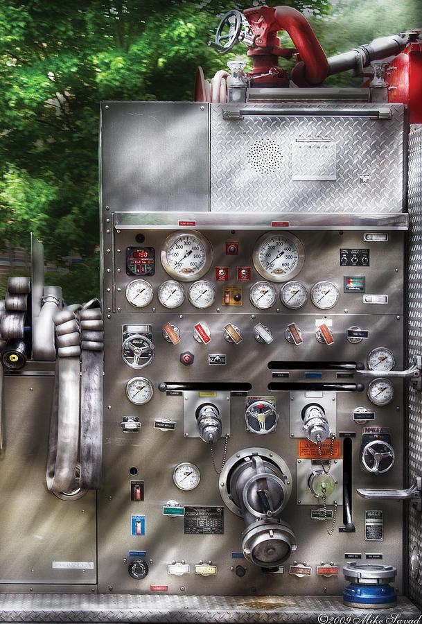 Savad Photograph - Fireman - Firemans Controls by Mike Savad