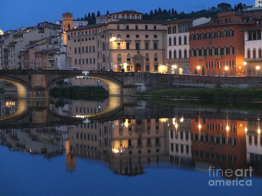 Firenze Photograph - Firenze Blue I by Kelly Borsheim