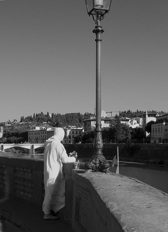 White Photograph - Firenze Man In  White  by Michael Cohen