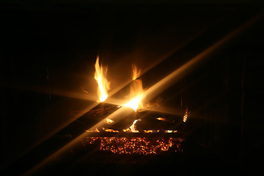 Fireplace Photograph - Fireplace by Ellen Henneke