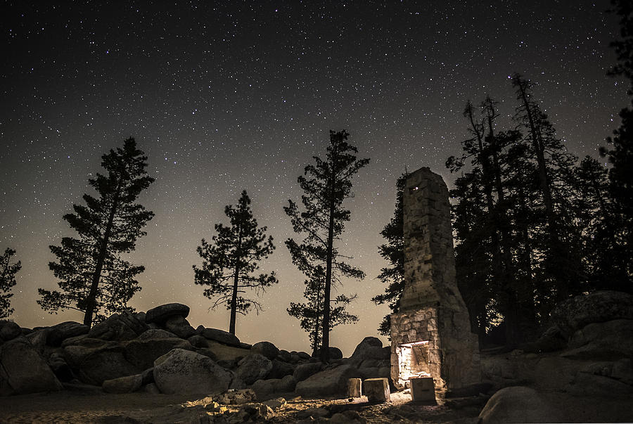 Astrophotography Photograph - Fireplace Under The Stars by Tony Fuentes