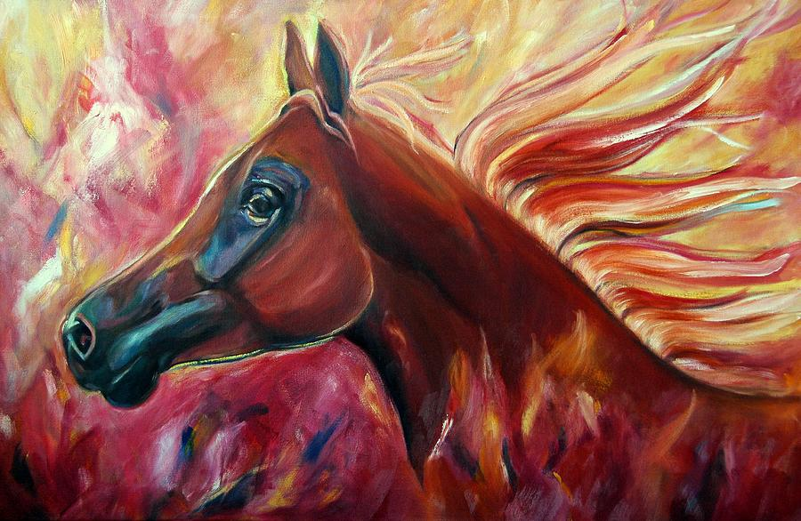 Horse Painting - Firestalker by Stephanie Allison
