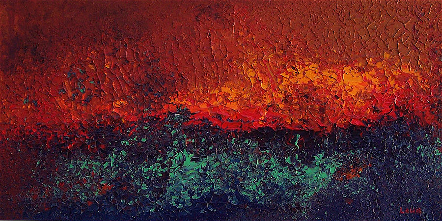 Abstract Painting - Firestorm by Michael Lewis