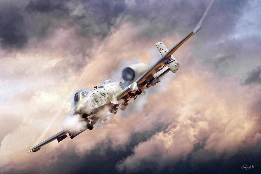 Aviation Digital Art - Firestorm by Peter Chilelli