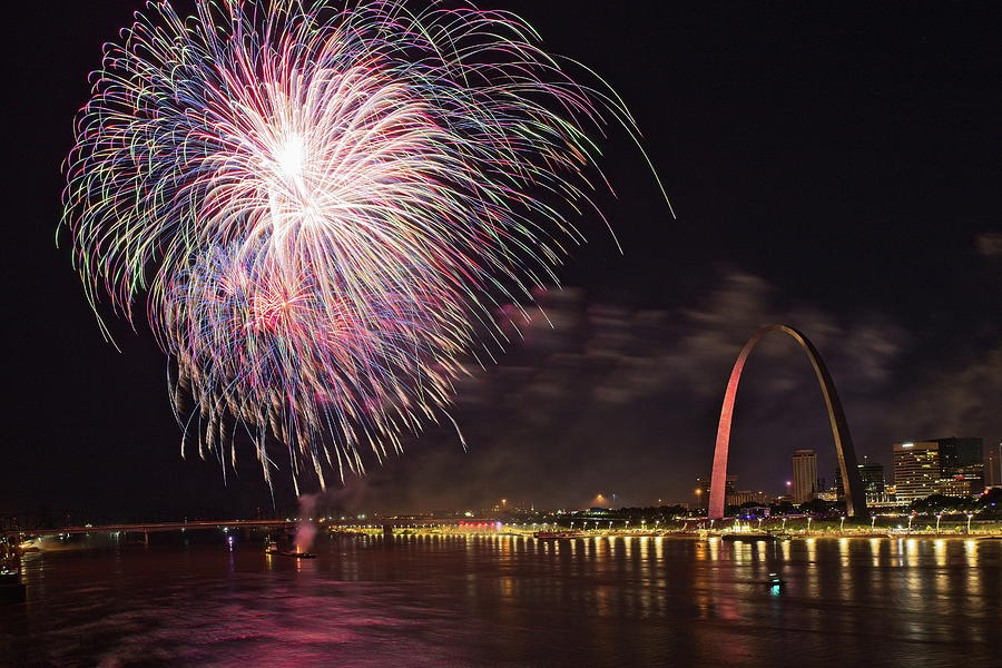 Fireworks At The Arch Photograph