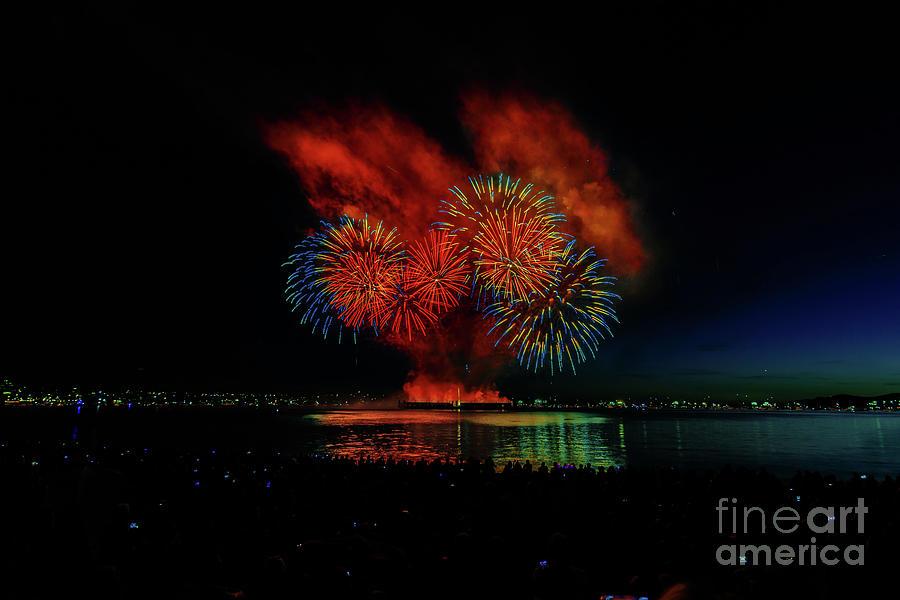Landscape Photograph - Fireworks 22 by Viktor Birkus