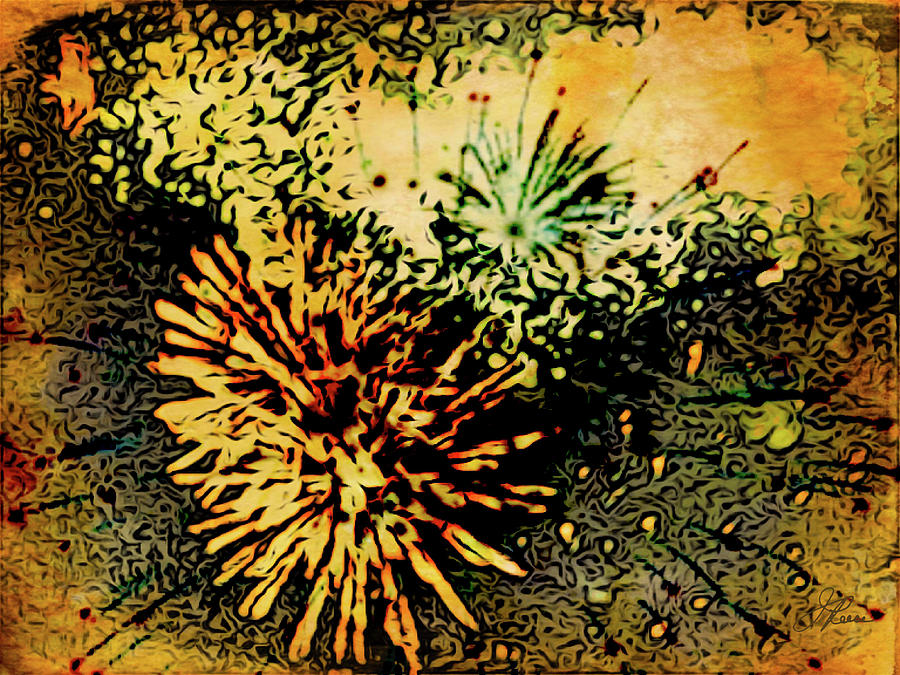 Fireworks 1 Painting by Joan Reese