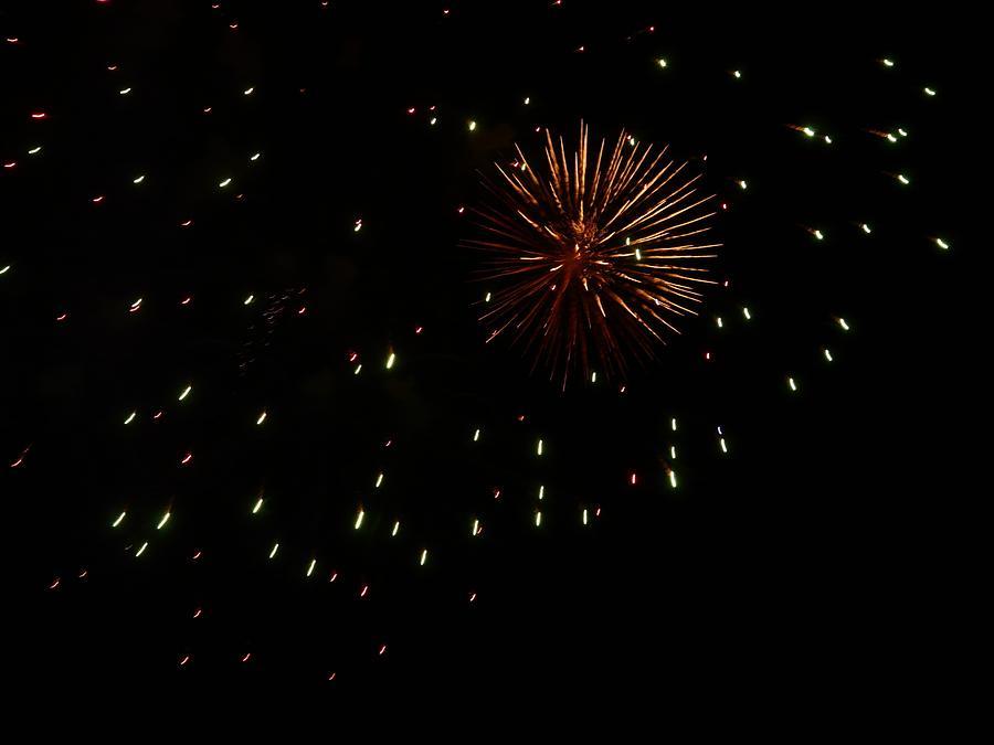 Fireworks Photograph - Fireworks 1 by Kendall Eutemey