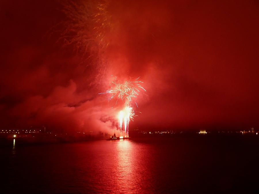 Fireworks Photograph - Fireworks 17 by Kendall Eutemey