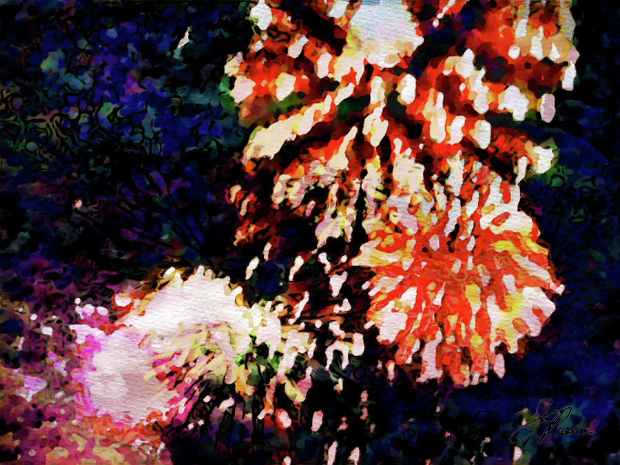 Fireworks Painting - Fireworks 2 by Joan Reese