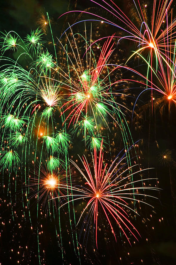 4th Of July Photograph - Fireworks 4th Of July by Garry Gay