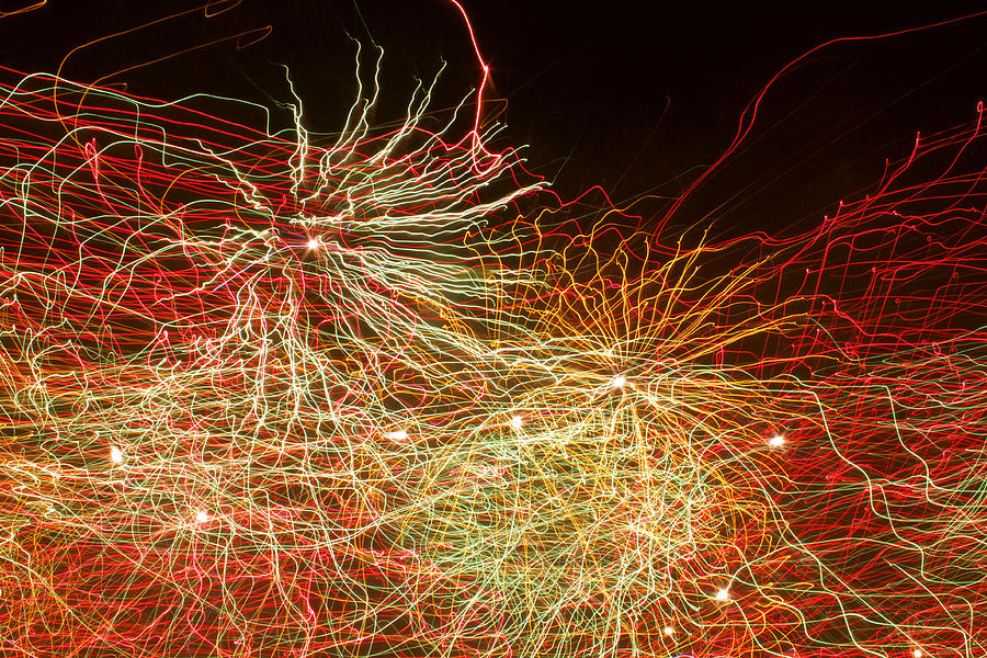 Fireworks Photograph - Fireworks Abstract IIi by Happy Lourie