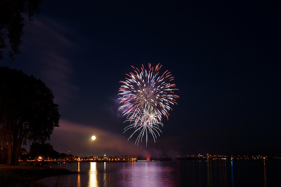 Fireworks Photograph - Fireworks by Andre Boulet