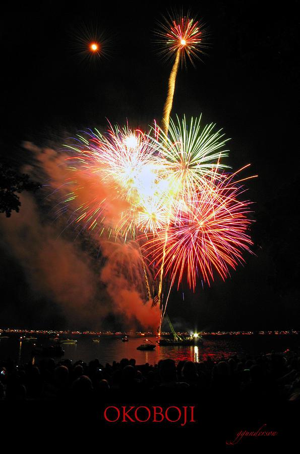 Okoboji Photograph - Fireworks At Lake Okoboji by Gary Gunderson