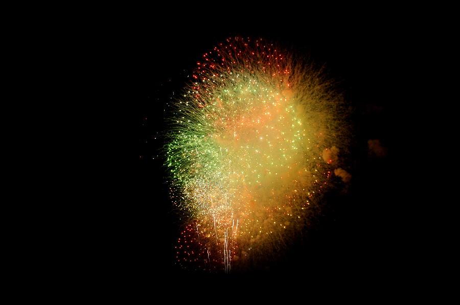 Stadium Photograph - Fireworks  by Brynn Ditsche