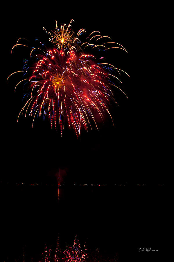 Fireworks Photograph - Fireworks II by Christopher Holmes