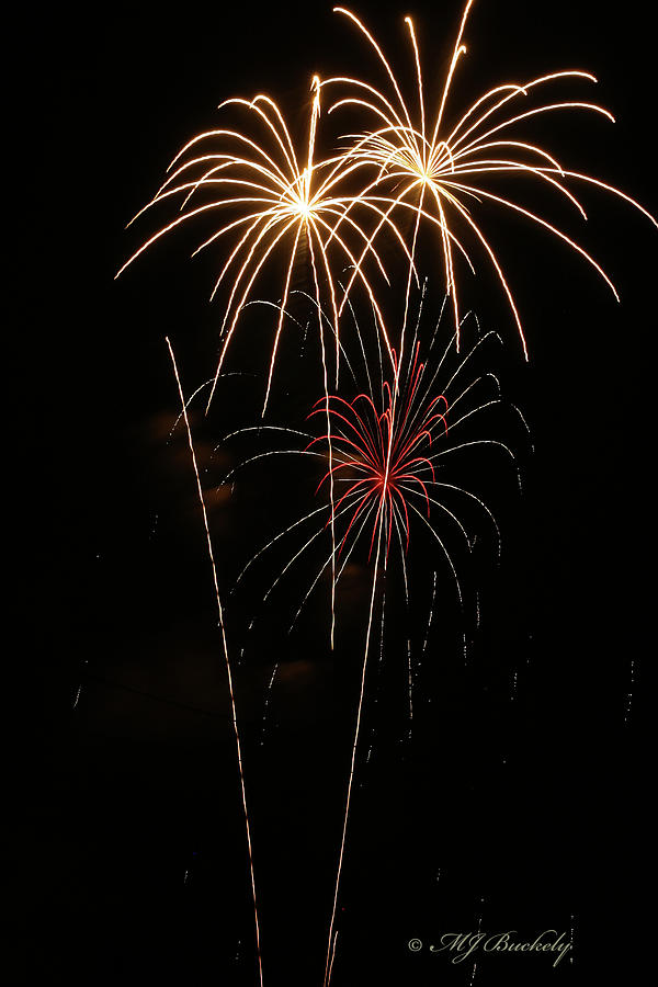 Fireworks Photograph - Fireworks by Marti Buckely