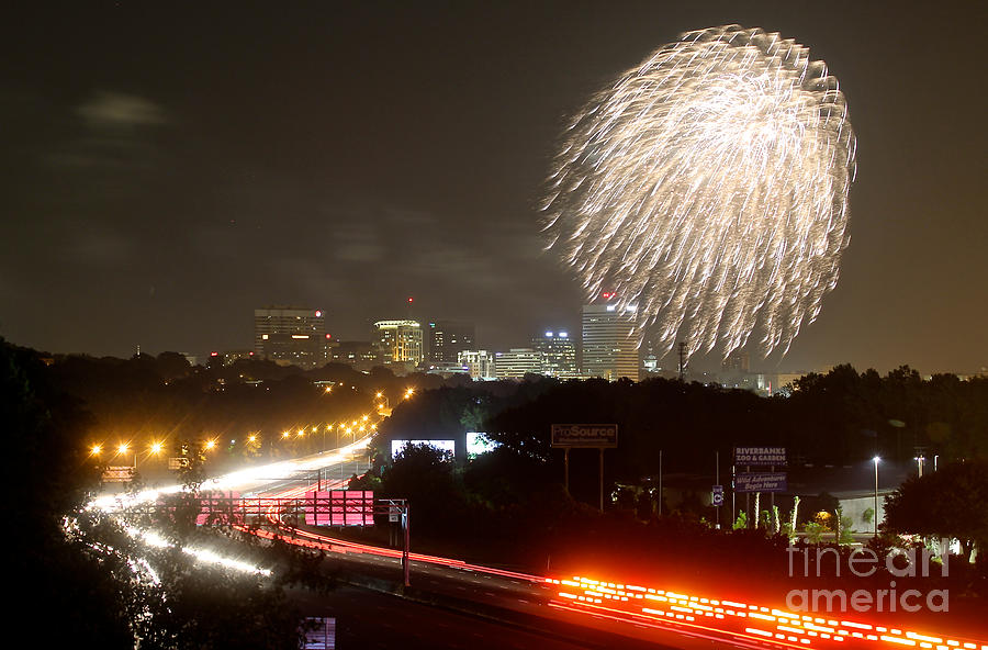 Fireworks Over Columbia Sc 1 Photograph