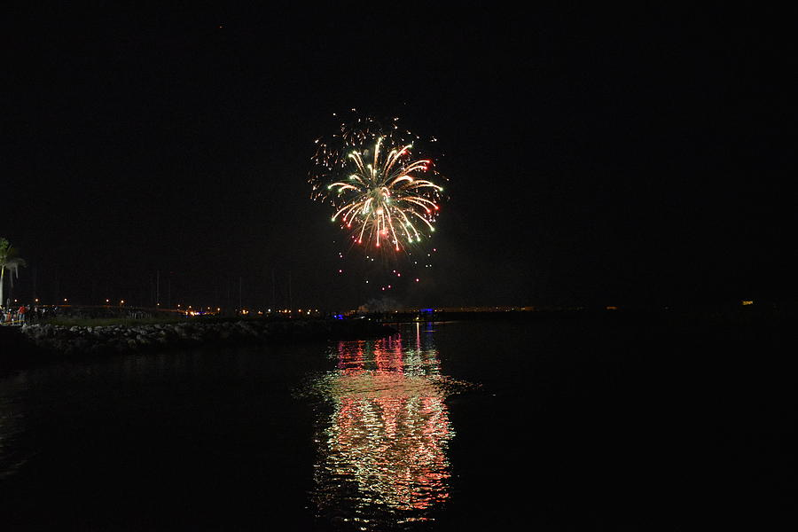 Fireworks Over Water 1 by Vicki Lewis