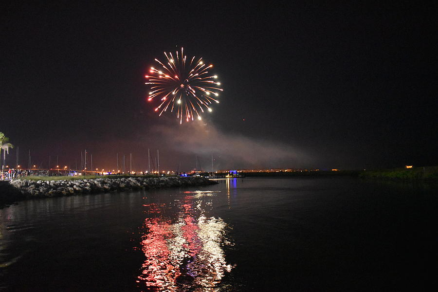 Fireworks Over Water 2 by Vicki Lewis