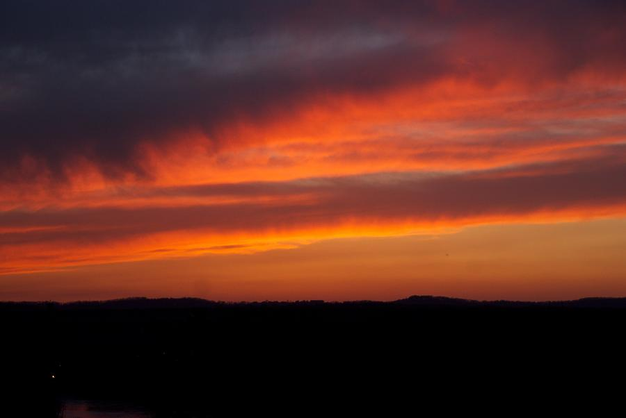 Red Sunset Photograph - Firey Skies by Toni Berry