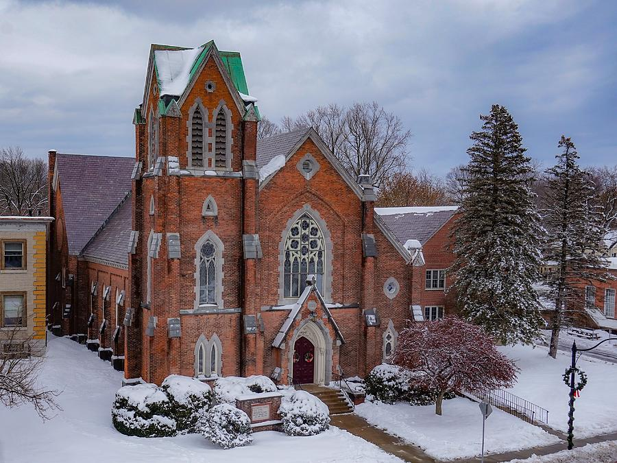 First Baptist Church Photograph by Kendall McKernon