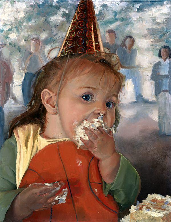 First Birthday Painting by Craig Werkheiser