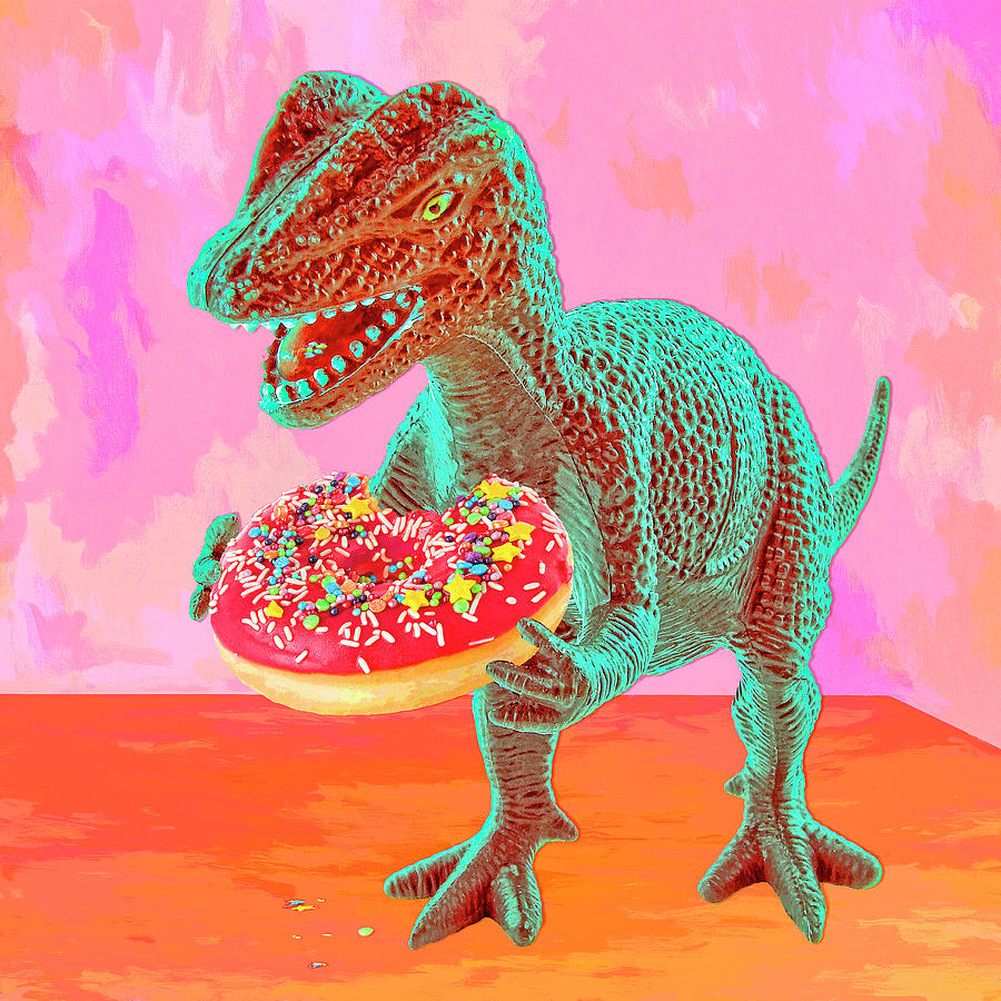 Doughnut Digital Art - First Bite by Sandra Selle Rodriguez