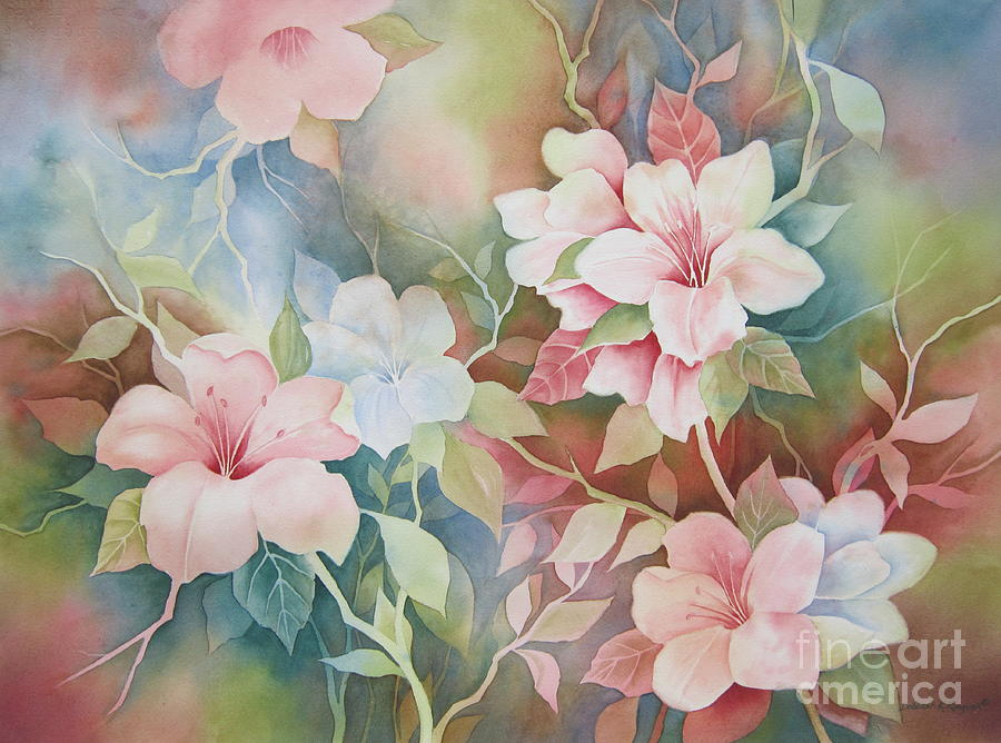 Hibiscus Painting - First Blush by Deborah Ronglien