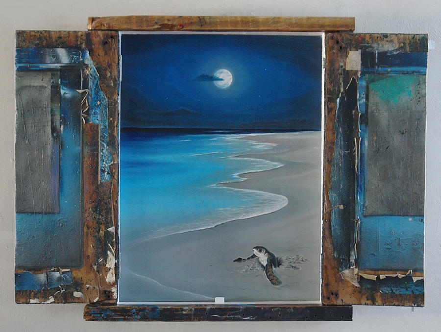 Seascape Painting - First Born by Angel Ortiz
