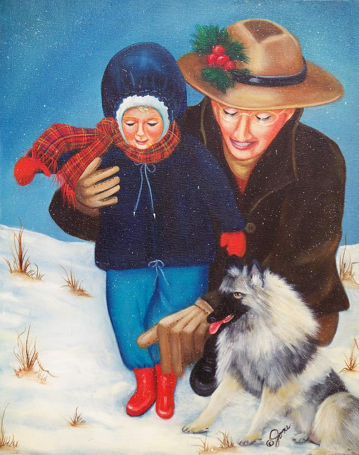 Christmas Painting - First Christmas by Joni McPherson