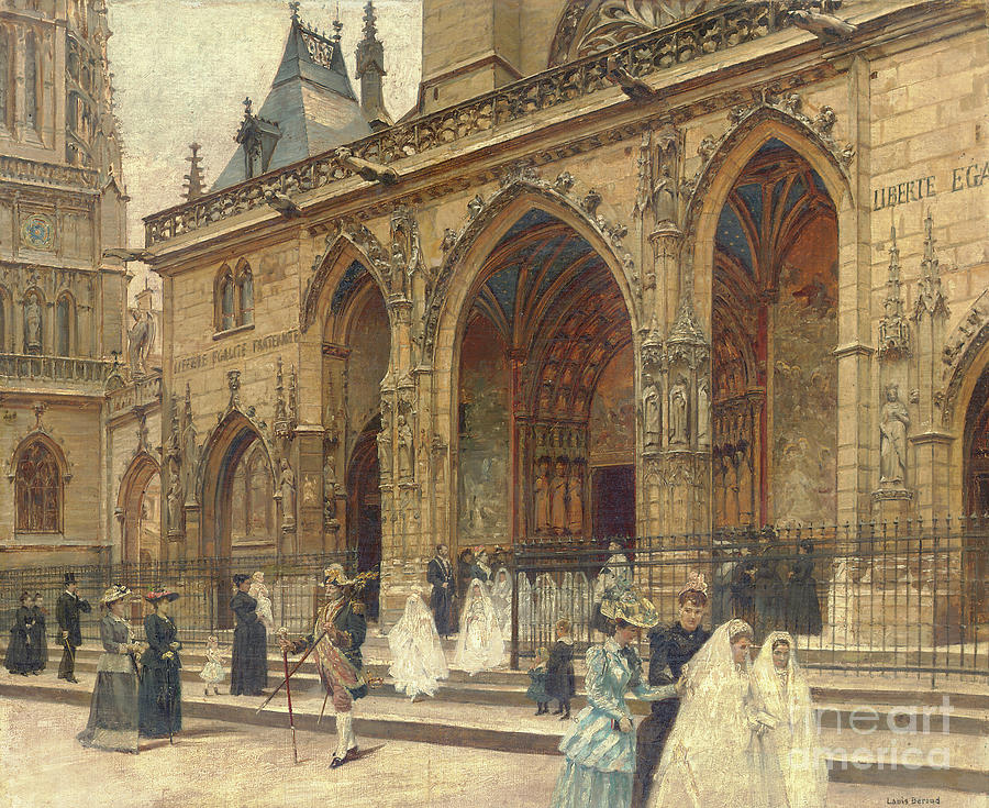 First Painting - First Communion by Louis Beroud