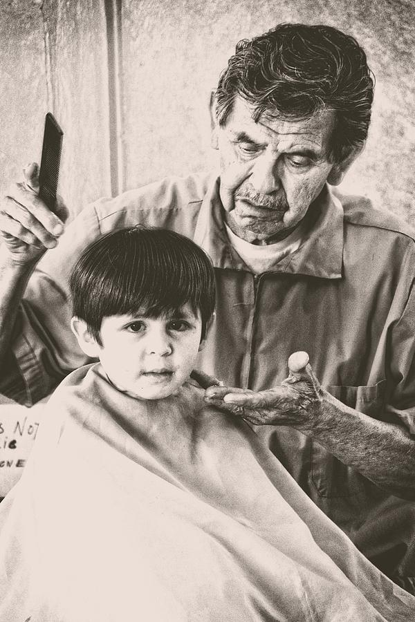 Barber Photograph - First Cut by Alice Gipson