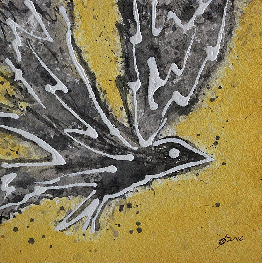Bird Painting - First Flight Original Painting by Sol Luckman