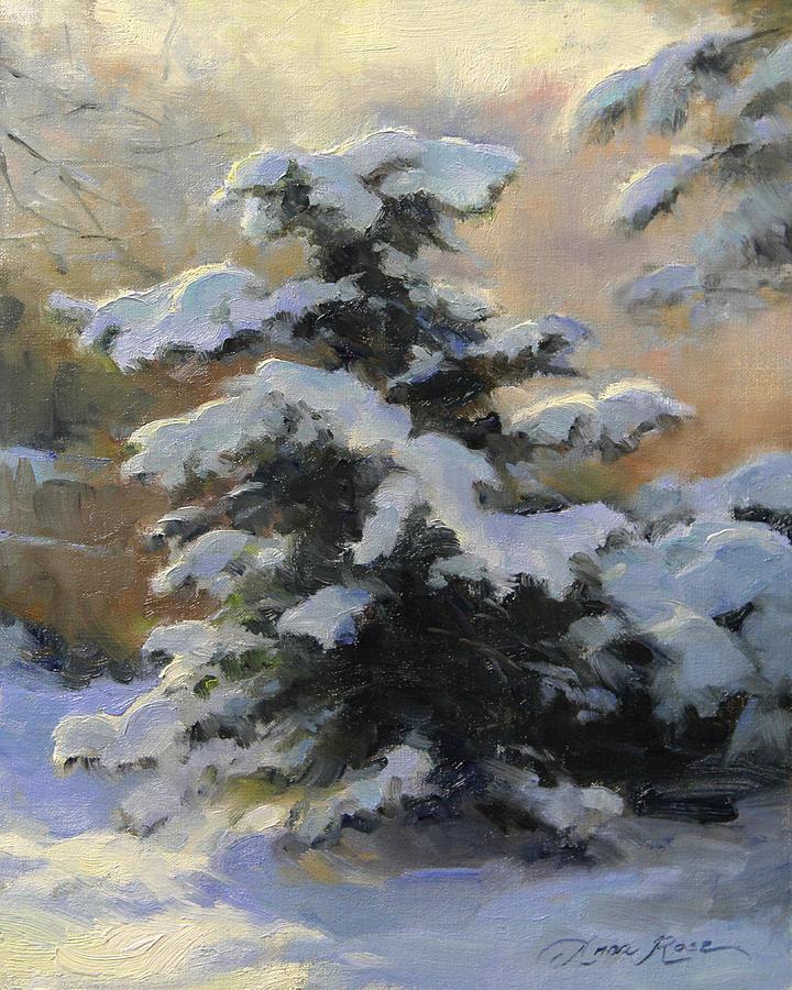 Snow Painting - First Heavy Snow by Anna Bain