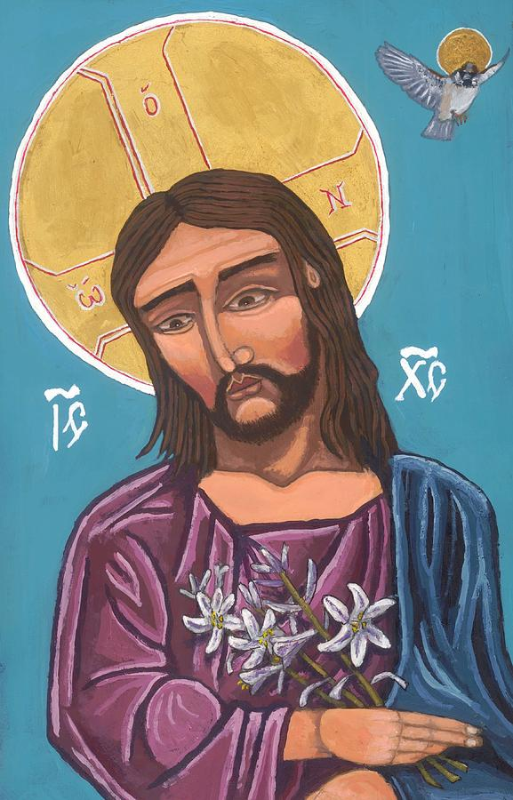 First Icon, Christ Consider the Lilies by Kelly Latimore
